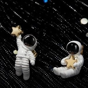 NEW Astronaut Star Outer Space Pierced Studs